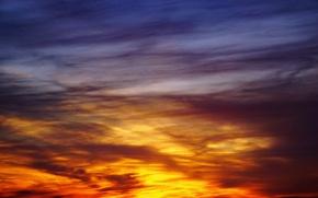 Picture light, sky, sunset, autumn, clouds