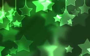 Wallpaper holidays, snow, stars, winter, Christmas, green, new year, mood, balls