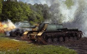 Picture Wallpaper, world of tanks, wot, Wallpaper wot, Wallpaper su-152, su-152