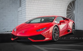 Picture Lamborghini, red, Hurricane, no parking