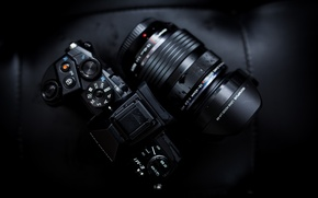 Picture the camera, lens, Olympus, OMD EM1