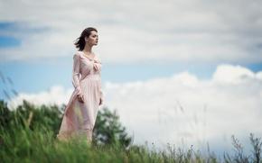 Picture field, the sky, the wind, Gone With The Wind, Maxim Guselnikov, Lydia Savodyorova, Lydia Samodurova