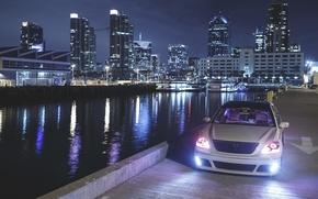 Picture city, the city, lights, lexus, Lexus, is430