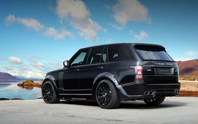 Picture Land Rover, Back, Lumma Design, Sky, Black, Range Rover, Tuning
