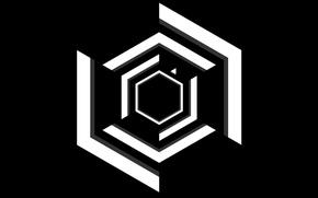 Picture Black, White, Minimalism, Super Hexagon