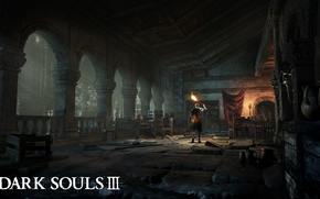 Picture The game, Forest, Armor, Sword, Art, Game, Dark Souls III, Dervla