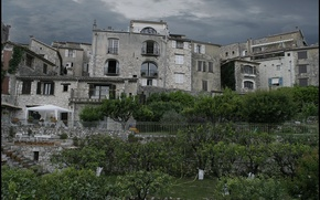 Picture architecture, Town, home, trees, building, the city, overcast, trees, building