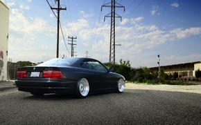 Picture the sky, clouds, bmw, BMW, black, back, e31, 840cl, 8 series