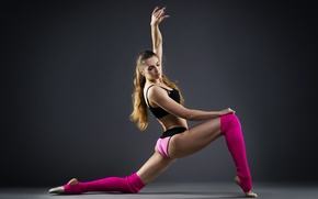 Picture pose, female, workout, Elongation