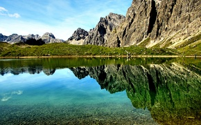 Picture mountains, nature, lake, reflection, rocks