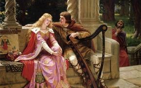 Wallpaper king, Mark, love, picture, Mark, romanticism, English painter, English artist, the pre-Raphaelite, Edmund Blair Leighton, ...