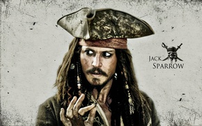 Picture johnny depp, actor, hollywood, movie, pirates, guy, jack sparrow