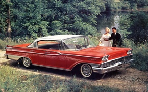 Picture red, people, sedan, the front, Sedan, Hardtop, 1959, Mercury, Mercury, Park Lane