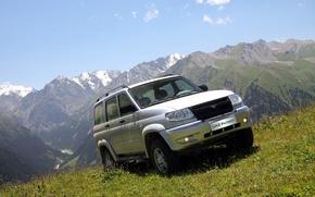 Picture mountains, nature, background, SUV, the roads, car, 4x4, off-road, Uaz, Patriot, UAZ patriot, UAZ
