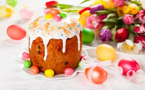 Picture holiday, eggs, Easter, cake