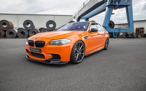 Wallpaper 3D Design, orange, the front, auto, nostrils, BMW, BMW