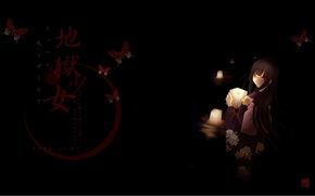 Picture darkness, red eyes, Hell girl, hell girl, bloody butterfly, Jigoku Shuojo