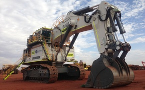 Picture big, mining, liebherr, excavator