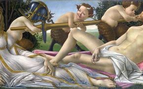 Wallpaper picture, mythology, Sandro Botticelli, Venus and Mars