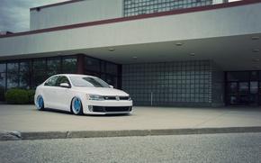 Picture Volkswagen, Jetta, white, MK6, GLI, frontside