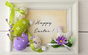 Picture flowers, eggs, Easter, tape, flowers, spring, Easter, eggs