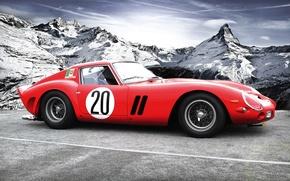 Picture mountains, Ferrari, classic, autowalls, Ferrari 250 GTO