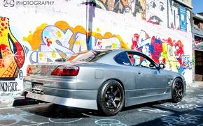 Picture graffiti, nissan, grey, Car, Nissan, Graffiti, silvia, Wallpapers, s15, Sylvia, JDM