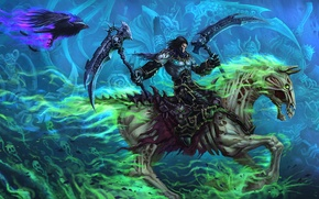 Picture weapons, horse, undead, Darksiders, death