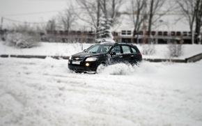 Picture chevrolet, snow, jeep, 4wd, bulgaria, captiva