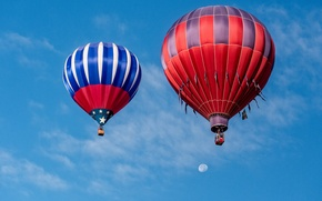 Picture the sky, balloon, sport, The moon