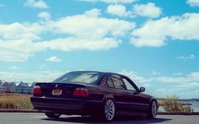Picture road, bmw, BMW, classic, Boomer, e38, 750il