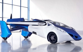 Picture hangar, the concept, car, new, flying, AeroMobil 3.0