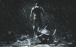 Picture Action, The Dark Knight, Darkness, Batman, Legendary Pictures, the, Water, with, Rain, Wallpaper, The Dark ...