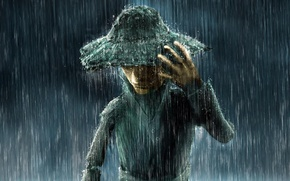 Picture rain, hat, Zeek Barnaulsky, Rainman