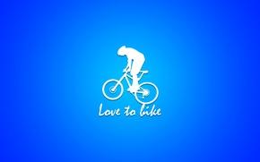 Picture bicycle, bike, minimalism
