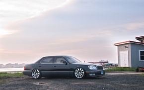 Picture clouds, tuning, grey, toyota, Toyota, VIP, celsior