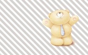 Picture mood, art, bear, tie, dad, children's, business, Forever Friends Deckchair bear, to work