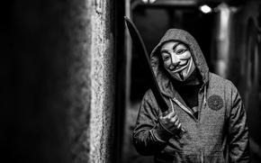 Wallpaper anonymous, mask, male, macheta