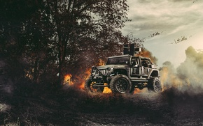 Picture Nature, Fire, Cars, Front, Wrangler, Jeep, Off Road, Planes, FullMetalGunner