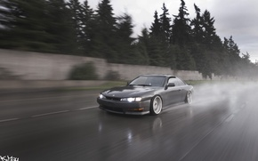 Picture road, speed, silvia, nissan silvia s14, Nissan Silvia