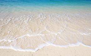 Wallpaper sand, water, shore