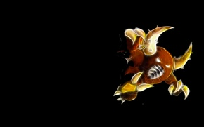 Picture claws, horns, horns, pokemon, pokemon, neon lines, pinsir, pincer, mandible