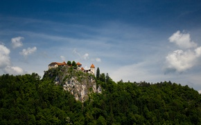 Picture lake, Slovenia, Bled castle, Bled