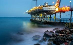 Wallpaper sea, Yalta, night, Wallpaper, excerpt