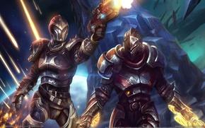 Wallpaper weapons, planet, the wreckage, warrior, Kingdoms of Amalur, Reckoning, rocks, armor