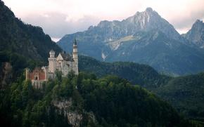 Picture Neuschwanstein, mountains, Germany, Bayern, Neuschwanstein, castle