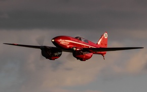 Wallpaper the sky, flight, De Havilland DH.88 Comet, twin-engine racing aircraft