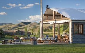 Picture nature, USA, farm, Montana, ranch, Rock Creek, ranch