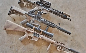 Picture weapons, rifle, AR-15, assault