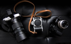 Picture leather, the camera, strap, olympus, lumix